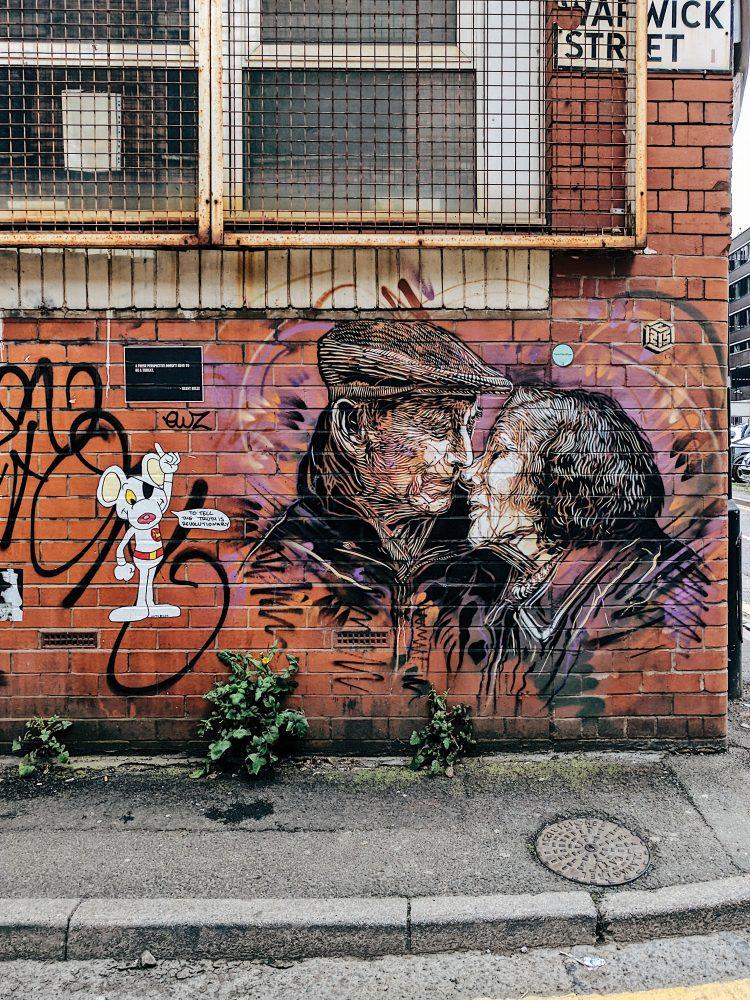 Manchester UK Street Art Skyliner