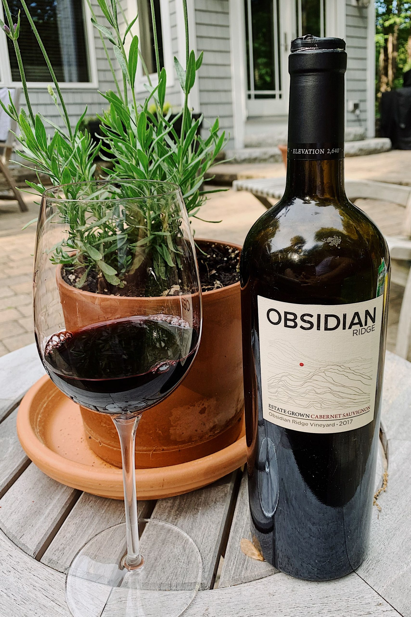 Obsidian Ridge Estate Grown Cab | Food blogger Meaghan Murray shares a post on her favorite wine during Summer 2020 on her blog The Stopover