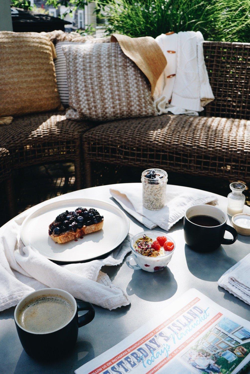 Breakfast at Life House Nantucket