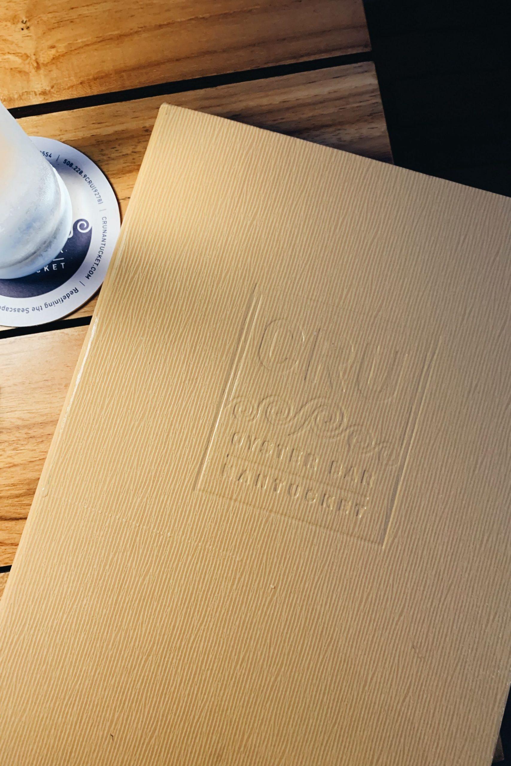 Cru Nantucket menu