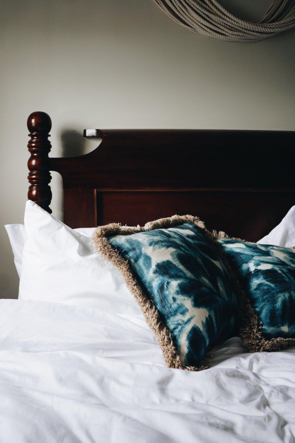 Bed at Faraway Hotel Nantucket