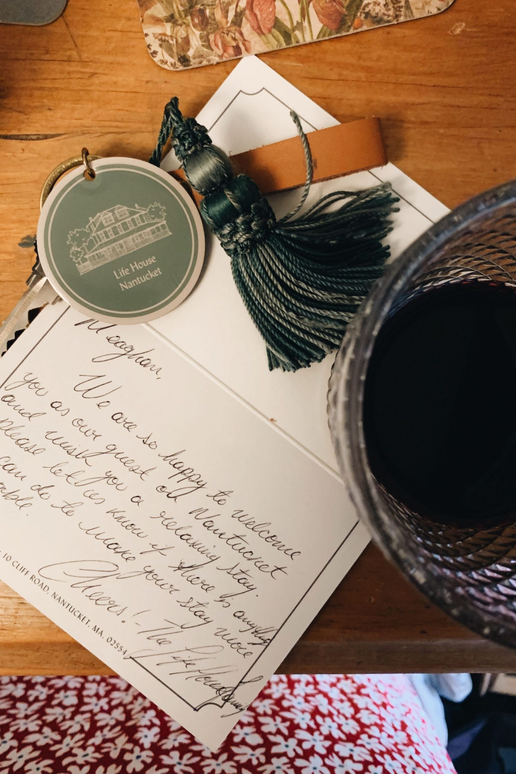 Personal note from Life House Nantucket