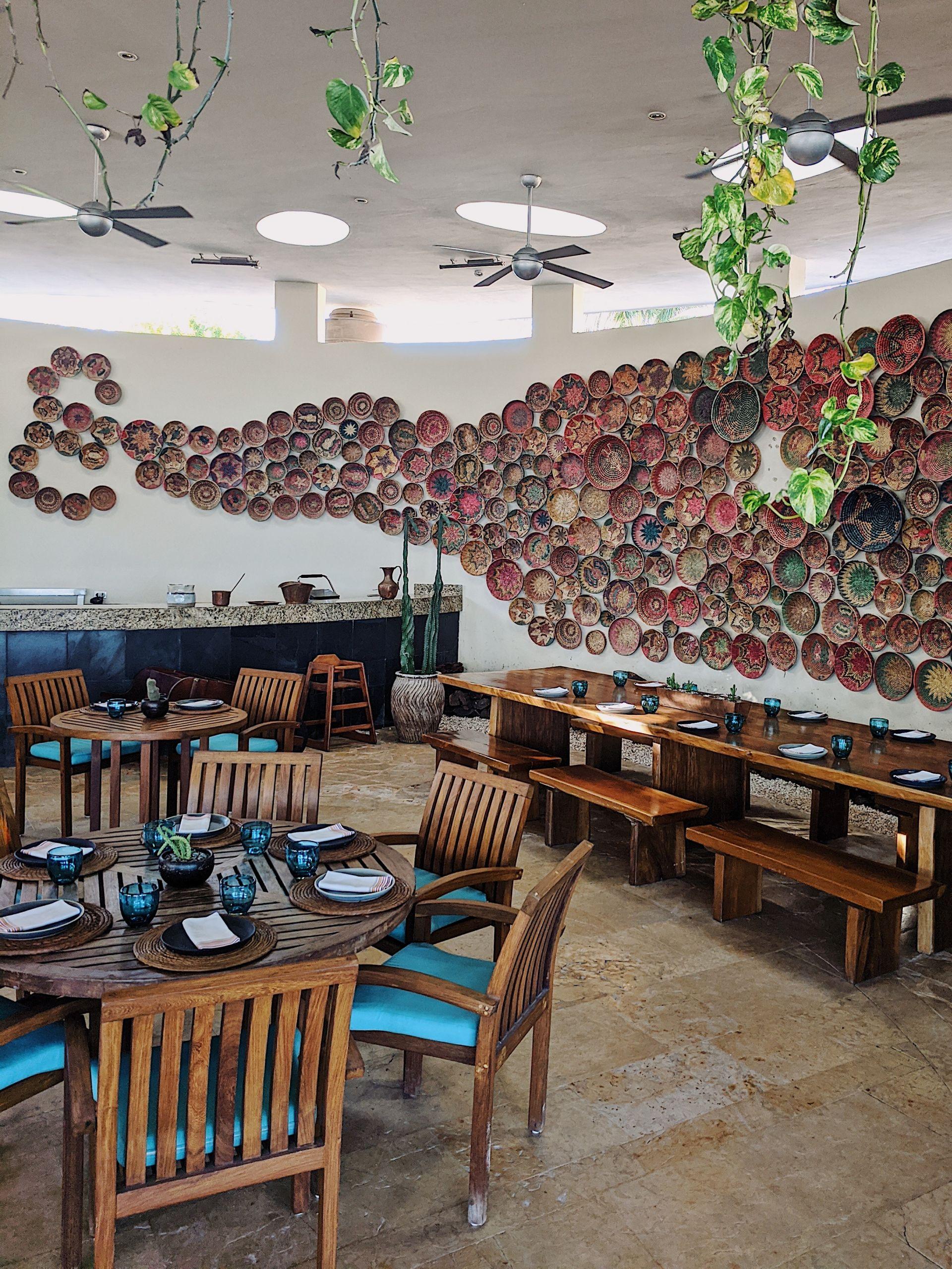 Poolside restaurant at Rosewood Mayakoba